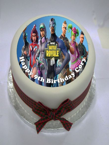 Fortnite Battle Royale Edible Cake Topper